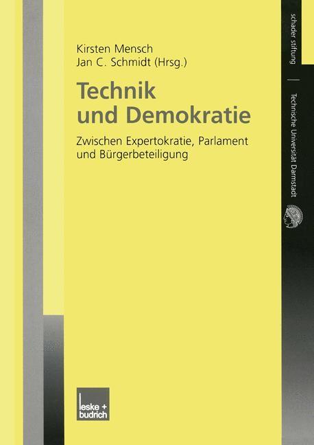 Abbildung von Mensch / Schmidt | Technik und Demokratie | 2003