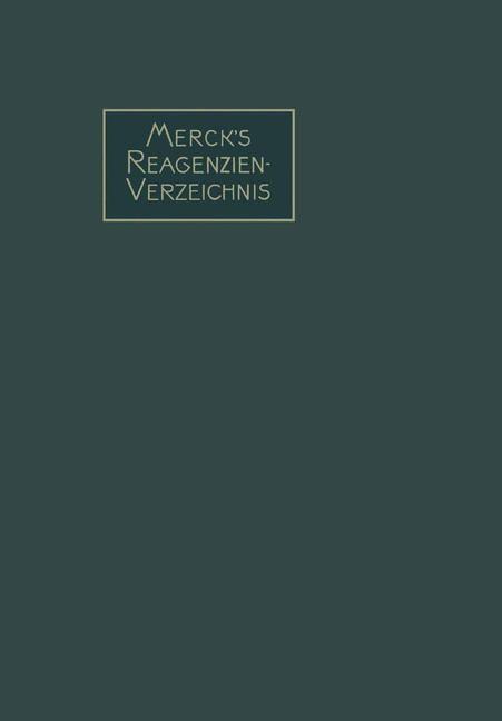 Abbildung von Merck   Merck's Reagenzien-Verzeichnis   1913