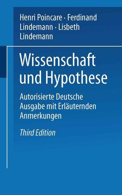Wissenschaft und Hypothese | Lindemann, 1914 | Buch (Cover)