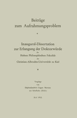 Abbildung von Mertens | Beiträge zum Aufrahmungsproblem | 1932