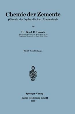 Abbildung von Dorsch | Chemie der Zemente | 1932 | Chemie der hydraulischen Binde...