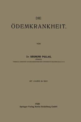 Abbildung von Pollag | Die Ödemkrankheit | 1920