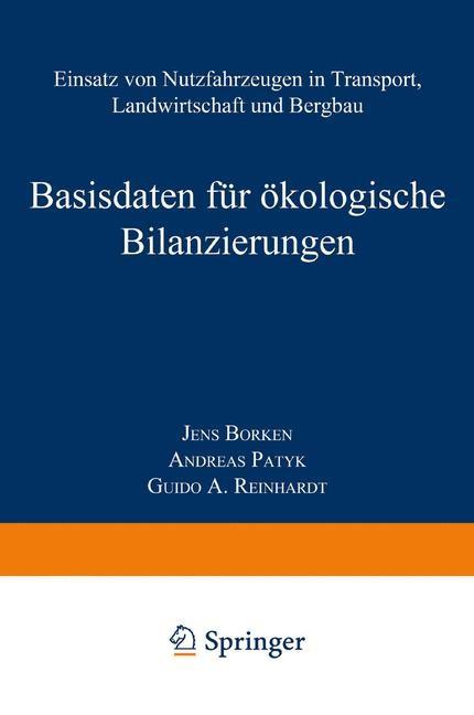 Basisdaten für ökologische Bilanzierungen | Borken / Patyk / Reinhardt, 2014 | Buch (Cover)