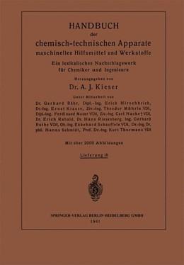 Abbildung von Krause / Möhrle / Moser | Handbuch der chemisch-technischen Apparate maschinellen Hilfsmittel und Werkstoffe | 1941 | Ein lexikalisches Nachschlagew...