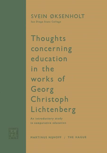 Thoughts Concerning Education in the Works of Georg Christoph Lichtenberg | Oksenholt, 1963 | Buch (Cover)