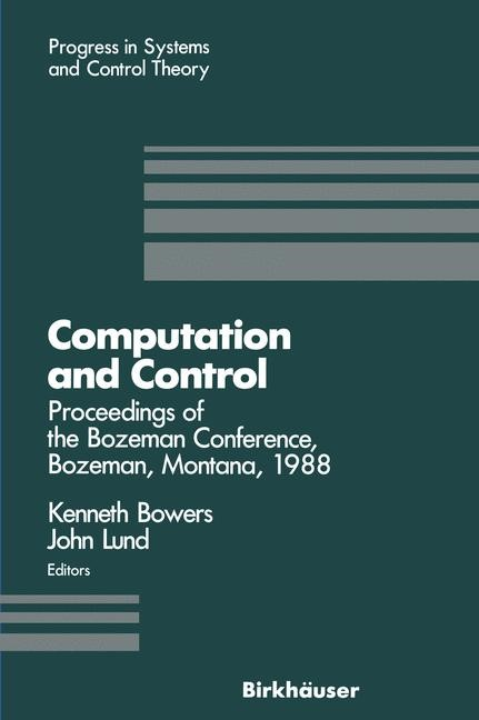 Computation and Control | Bowers / Lund, 1989 | Buch (Cover)
