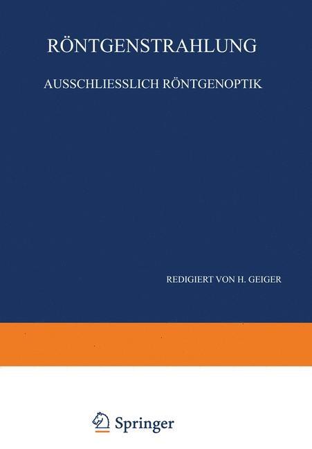 Röntgenstrahlung Ausschliesslich Röntgenoptik | Bothe / Geiger / Scheel, 1933 | Buch (Cover)