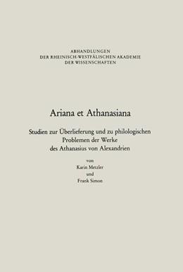 Abbildung von Metzler / Simon | Ariana et Athanasiana | 2014 | Studien zur Überlieferung und ... | 83