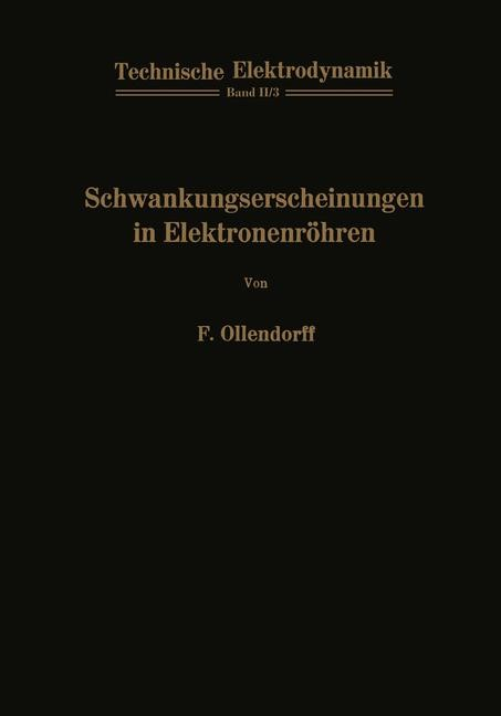Schwankungserscheinungen in Elektronenröhren   Ollendorff, 2012   Buch (Cover)