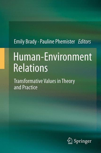 Abbildung von Brady / Phemister   Human-Environment Relations   2014