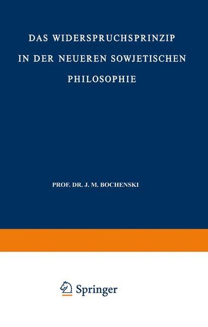 Das Widerspruchsprinzip in der Neueren Sowjetischen Philosophie | Lobkowicz, 2012 | Buch (Cover)
