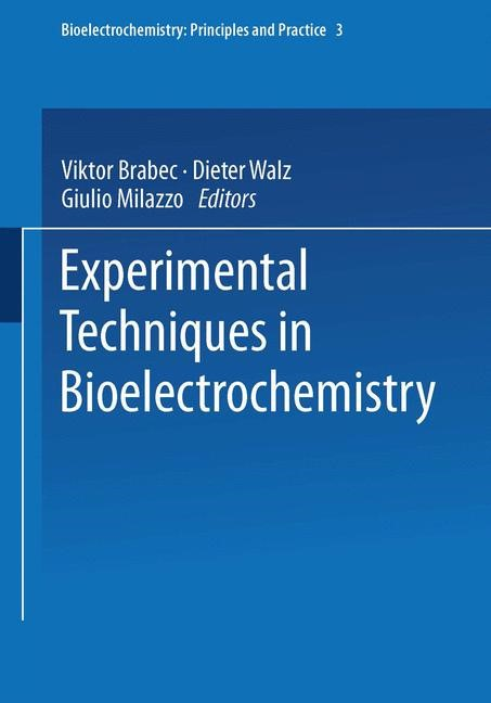 Experimental Techniques in Bioelectrochemistry | Brabec / Milazzo, 2014 | Buch (Cover)