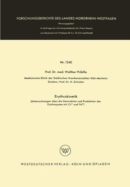 Abbildung von Pribilla | Erythrokinetik | 1964 | Untersuchungen über die Destru... | 1340