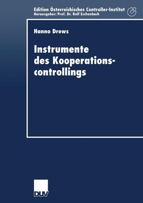 Instrumente des Kooperationscontrollings   Drews, 2001   Buch (Cover)