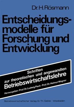 Abbildung von Rösmann | Entscheidungsmodelle für Forschung und Entwicklung | 1977 | 1977 | 15
