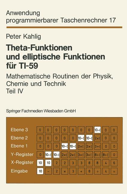 Theta-Funktionen und elliptische Funktionen für TI-59   Kahlig, 1983   Buch (Cover)