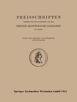 Abbildung von Meister | Die Homerische Kunstsprache | 1921