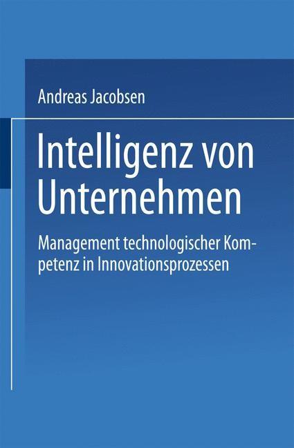 Intelligenz von Unternehmen, 2000 | Buch (Cover)
