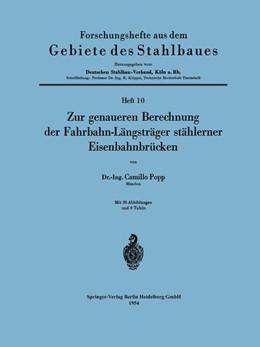 Abbildung von Popp | Zur genaueren Berechnung der Fahrbahn-Längsträger stählerner Eisenbahnbrücken | 1954 | 10