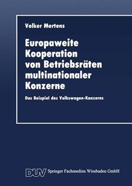Abbildung von Europaweite Kooperation von Betriebsräten multinationaler Konzerne | 2014 | Das Beispiel des Volkswagen-Ko...