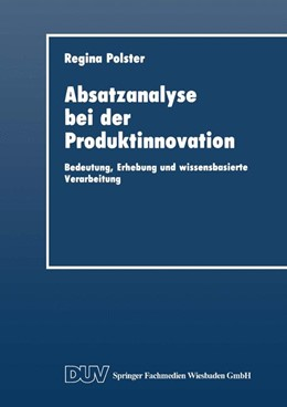 Abbildung von Absatzanalyse bei der Produktinnovation   1. Auflage   2014   beck-shop.de