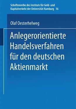 Abbildung von Anlegerorientierte Handelsverfahren für den deutschen Aktienmarkt | 1. Auflage | 1998 | 16 | beck-shop.de
