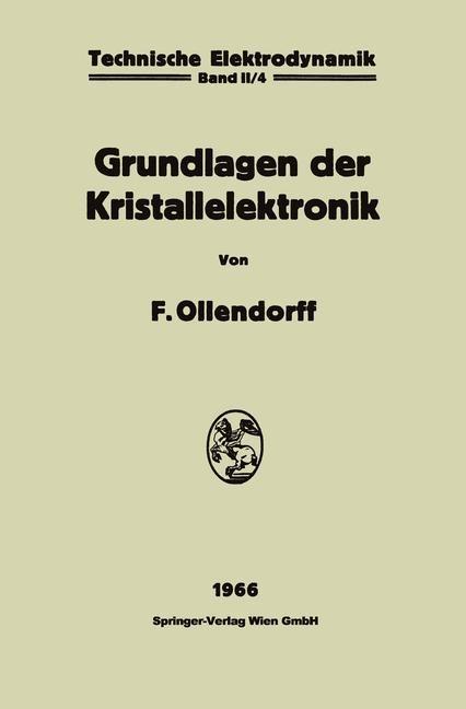 Innere Elektronik | Ollendorff, 1966 | Buch (Cover)