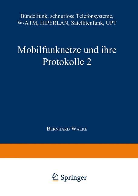 Mobilfunknetze und ihre Protokolle 2 | Bossert / Walke / Fliege, 2014 | Buch (Cover)