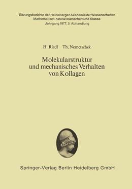Abbildung von Riedl / Nemetschek | Molekularstruktur und mechanisches Verhalten von Kollagen | 1978 | 1977 / 5