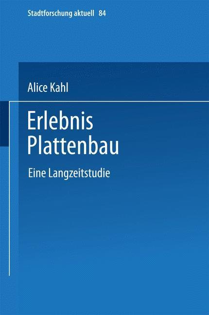 Erlebnis Plattenbau | Kahl, 2003 | Buch (Cover)