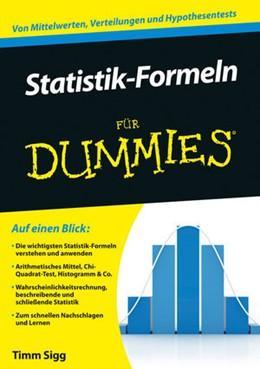 Abbildung von Sigg | Statistik-Formeln für Dummies | 1. Auflage | 2014 | beck-shop.de