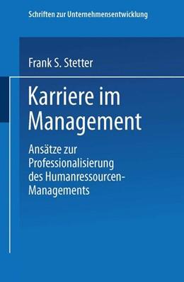 Abbildung von Karriere im Management   1999   Ansätze zur Professionalisieru...