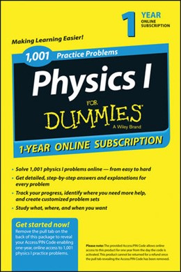 Abbildung von 1,001 Physics I Practice Problems For Dummies Access Code Card (1-Year Subscription) | 2020