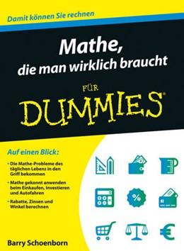 Abbildung von Schoenborn   Mathe, die man wirklich braucht für Dummies   2015