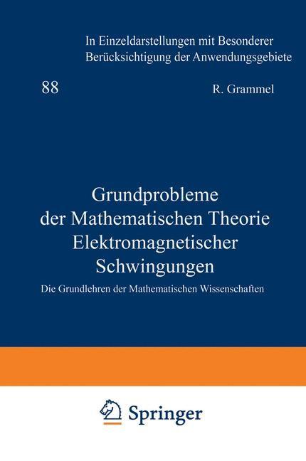 Grundprobleme der Mathematischen Theorie Elektromagnetischer Schwingungen   Müller, 2012   Buch (Cover)