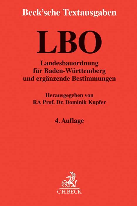Landesbauordnung für Baden-Württemberg: LBO | 4., neu bearbeitete Auflage, 2015 | Buch (Cover)