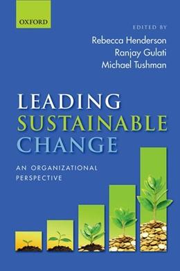 Abbildung von Henderson / Gulati   Leading Sustainable Change   1. Auflage   2015   beck-shop.de