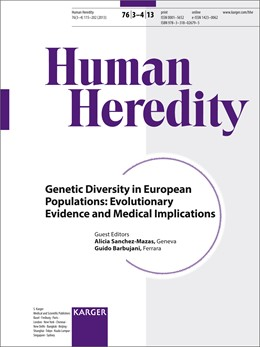 Abbildung von Sanchez-Mazas / Barbujani | Genetic Diversity in European Populations: Evolutionary Evidence and Medical Implications | 2014 | Special Topic Issue: Human Her...