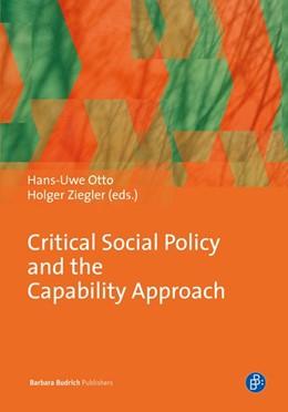 Abbildung von Otto / Ziegler   Critical Social Policy and the Capability Approach   1. Auflage   2014   beck-shop.de