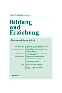 Abbildung von Matthes / Adick / Meilhammer | Bildung und Gerechtigkeit | 2014 | 67,3