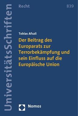 Abbildung von Afsali | Der Beitrag des Europarats zur Terrorbekämpfung und sein Einfluss auf die Europäische Union | 1. Auflage | 2014 | 839 | beck-shop.de