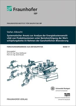 Abbildung von / Sedlbauer / Hauser | Systematischer Ansatz zur Analyse der Energiekostensensitivität von Produktsystemen unter Berücksichtigung der Wertschöpfungskette im Rahmen der Ganzheitlichen Bilanzierung. | 2014 | 17