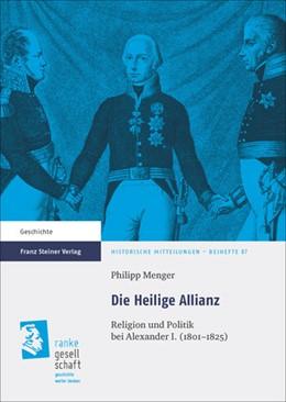 Abbildung von Menger   Die Heilige Allianz   2014   Religion und Politik bei Alexa...