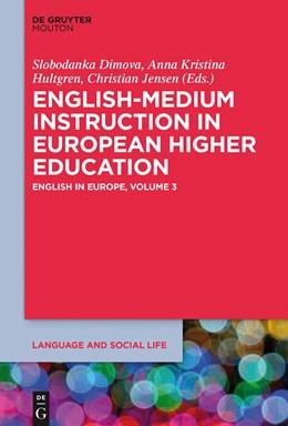 Abbildung von Dimova / Hultgren / Jensen | English-Medium Instruction in European Higher Education | 2015 | English in Europe, Volume 3 | 4