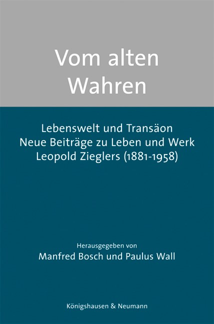 Vom alten Wahren   Bosch / Wall, 2015   Buch (Cover)