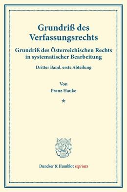 Abbildung von Hauke / Finger | Grundriß des Verfassungsrechts. | 1. Auflage | 2014 | beck-shop.de