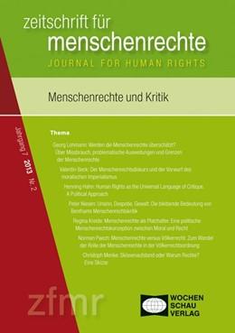 Abbildung von Debus / Kreide | Menschenrechte und Kritik | 1. Auflage | 2014 | beck-shop.de