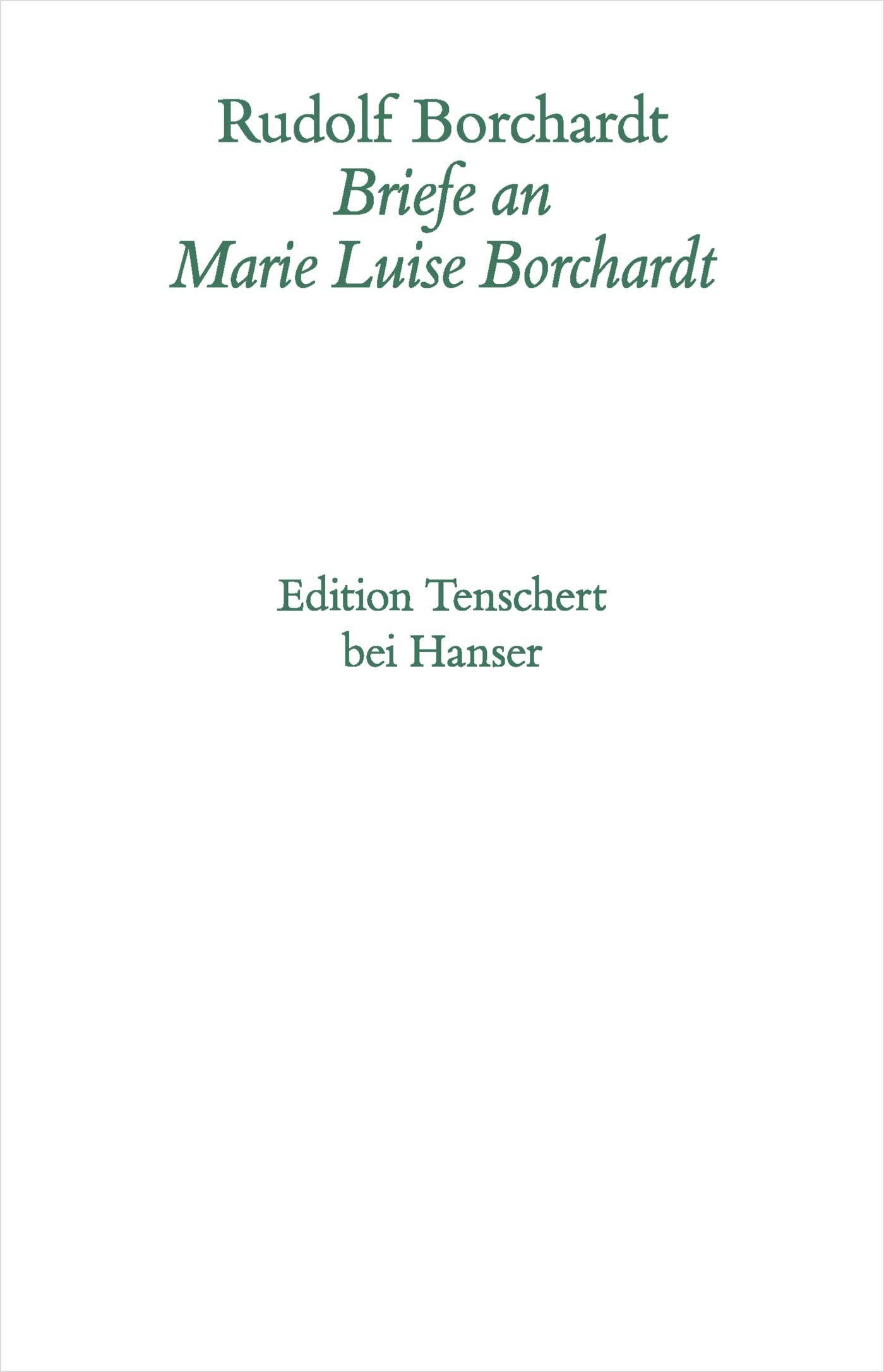 Gesammelte Briefe   Borchardt, 2014   Buch (Cover)