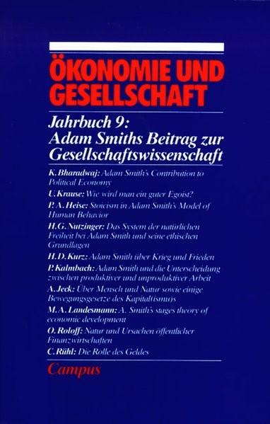 Adam Smith über Ökonomie und Gesellschaft | Buch (Cover)
