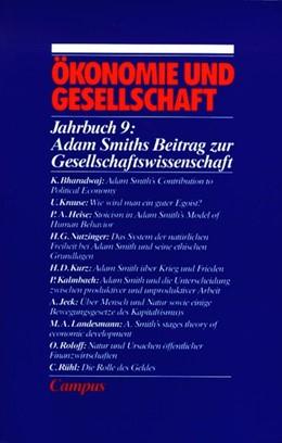 Abbildung von Adam Smith über Ökonomie und Gesellschaft | | Jahrbuch Ökonomie und Gesellsc...